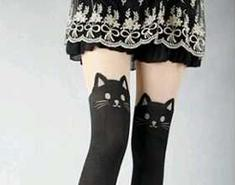 Black Cat Stockings Are Really Cute And That's No Stretch