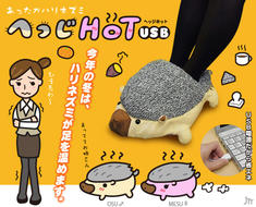 USB Foot Warmer Hedgehog Slippers Keep Office Workers' Tootsies Toasty