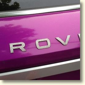 Blinged-up Range Rover Evoque Sports Swarovski Crystal Nameplates