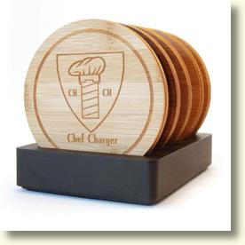 ChefCharger Bamboo Coasters
