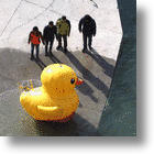 Jumbo Rubber Ducky Videographer To Document China's South-North Water Diversion Project