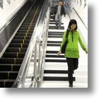 Piano Stairs Play Soothing Sounds in Nanjing's Subway