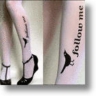 Twitter Tattoo Stockings Kick-Start Social Media Fashion