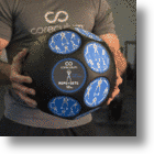The Coreculum Ball Is A Medicine Ball And Workout Guide In One Device
