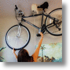 Bike Nest Lifts Your Bike Like Using A Window Shade