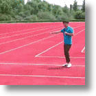 Athletic Track's Squared-Off Lanes Impress Officials, Inhibit Runners