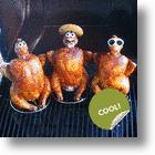 Ceramic Drunk Chicken Heads: Sober Barbecue Fare