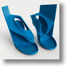 Blue Panel Steel Conceptual Shoe: Alternative to High Heels