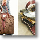 Funky Recycled Fashion: Men's Suits Repurposed As Bags