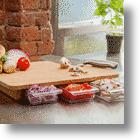 Chop And Store With Mocubo Bamboo Cutting Board's Handy Prep Drawers