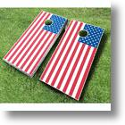 Make Your July 4th Cookout More Patriotic With The American Flag Cornhole Set