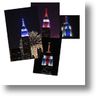 Empire State Building Steals Show With First-Time-Ever Light Display On July, 4, 2013