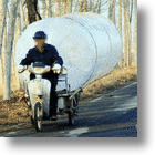 Chinese Villagers Pilfer Natural Gas Using Huge Bags. Oh, The Hunanity!