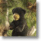 Adorable Black Bear Cub Puppet