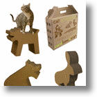 Cat Meets Alligator In Cardboard Design&#039;s Ecological Cat Scratchers