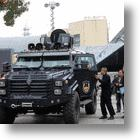 "Hangzhou Police Roll Out ""Saber-Toothed Tiger"" Anti-Riot Vehicle"