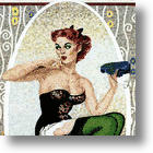 Sexy, Sassy, And Spectacular Mosaic Pin Ups On Your Walls