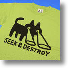 Cool &#039;Seek &amp; Destroy&#039; T-shirt: The Cat&#039;s Got Your Back