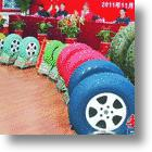 Colored Car Tires from China Look Wheel Strange