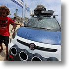 Fiat 500L Vans Design Concept Car Hangs Ten At Surf City