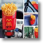 McDonald&#039;s Potato Holder Fits Fries Above, Hands &amp; Cupholders Below