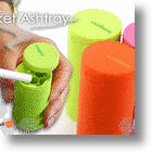 Colorful Pocket Ashtray Snuffs Your Ciggies