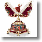 Russia's Porcelain Musical Egg: Whispers of Faberge and the Romanovs