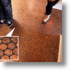 Cover Your Floors in a Blanket of Riches with Penny Tiling
