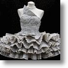 When Recycling Goes Right: Dress Made Of Phonebooks