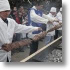 World Record Meat Kebab Puts Japanese Island on the Map
