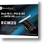 SilverStone ECM20 PCIe Card Adds M.2 SSD Support To Your PC
