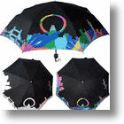Umbrella Changes Color When Rain Hits