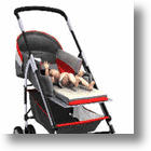 The BabyDeck Stroller Allows for Diaper Changing on the Run