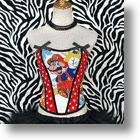 Vintage Cartoon Corset: Whimsical Super Mario Fashion For Women