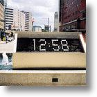 Water Fountain Digital Clock Displays the Flow of Time