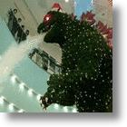 Giant Godzilla Christmas Tree Spruces Up Tokyo Mall