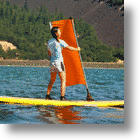 Roll Up Sail Turns Your Paddle Board Into A Mini Sail Boat