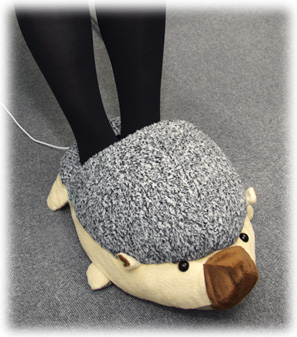 usb foot warmer hedgehog slippers keep office workers 39 tootsies toasty