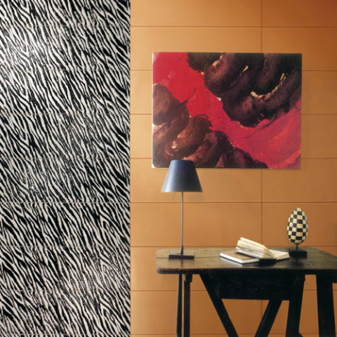 Zebra tiles from the Animalier Collection: ©Settecento
