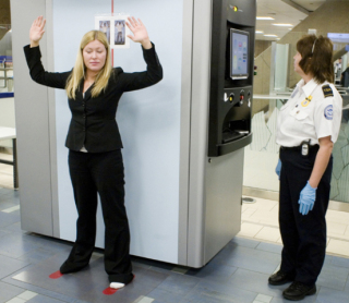 Backscatter x-ray scanners, more common in airports: image via blog.silive.com