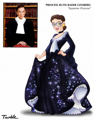 Princess Ruth Bader Ginsberg (Image by David Trumble, (c)2013, used by permission)