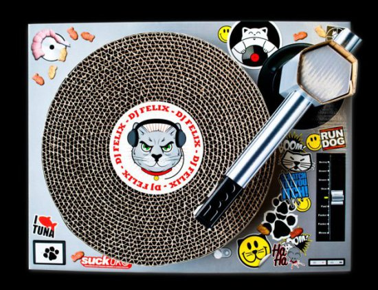 DJ Felix's playground on his Cat Scratch: ©Suck UK