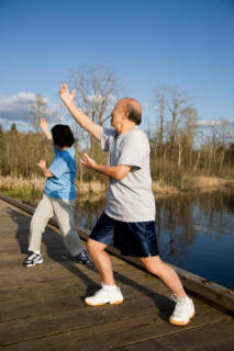 Tai chi gentle movements improve physical and mental well-being: Image Credit: iStockphoto/Suprijono Suharjoto via sciencedaily.com