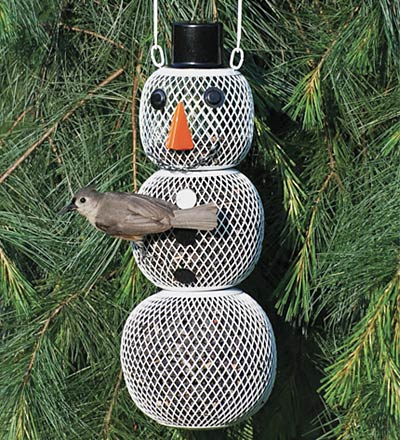 Snowman Bird Feeder