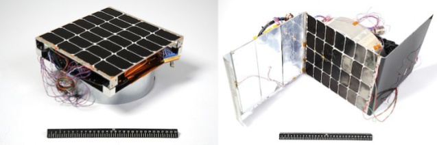 The two prototypes for the U.S. Navy's solar panels.