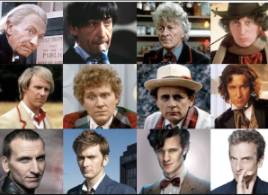 12 Doctors Spanning 50 years (missing the War Doctor or 13th Doctor!)