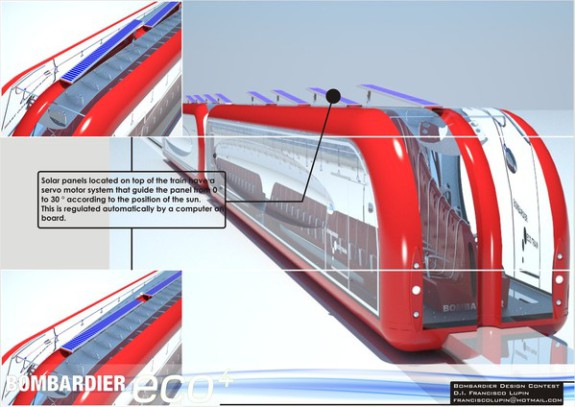 Inter Urban Eco Train solar panels can rotate up to 30 degrees:  Francisco Lupin