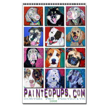Painted Pups 2011 Wall Calendar