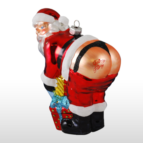 Strange Ornament #10 - Santa in a Thong: - Stupid, Strange And Ugly Christmas Ornaments