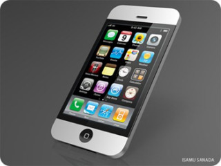 A concept image of the rumored iPhone 4G, conceived by iPhoneRoot.com.